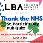 We know you've missed the pub. As an #NHS staff member you've been working so hard you wouldn't be able to go to one even if they weren't all closed. So the @londonbrewersalliance is bringing the pub to you!  Enjoy a night with your team (virtually) and let us give your noggin a workout. The breweries of London will be on hand to guide you through the Q&A but you don't need to know anything about beer to play (honestly you don't even have to like beer, just don't tell the brewers!). And even if you don't consider yourself an egghead, funny man Dr Steve Cross will be on hand to make sure the whole night is a laugh even if you get the wrong answer.  The quiz is open to all London health or care staff free of charge as part of the schedule of events for the Month of Wellness no purchase necessary. As a special treat the breweries didn't want you to go thirsty so they've put together a low cost six-pack of beers just for NHS London staff. They're only £10 (delivery included) and filled with a mix of tasty craft ales and lagers to try. Just mention which NHS Trust you work for on the ticket registration to get access to the special link.  No matter what, all the breweries of London are so thankful for your hard work and dedication and want you to have a great night of fun, so sign up NOW!  See the link in our bio…